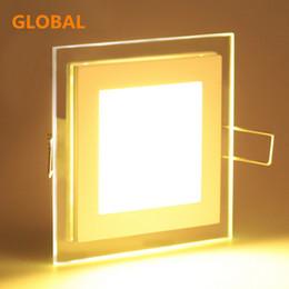 farbe wechselbares glas Rabatt Hohe Qualität 6W 12W 18W führte veränderbare Lampe der Glasverkleidungslicht Aluminium + Glass LED Verkleidungslichtfarbe runde und quadratische Form freies Verschiffen