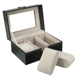 Wholesale Jewellery Boxes For Watches - Top Selling New Arrival 3 Grid Slots PU Leather Box For Watch Jewellery Display Collection Storage Organizer Case