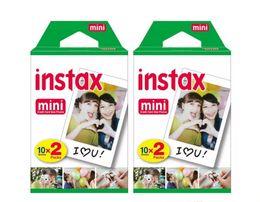 Wholesale Mini 25 Film - 2017 New High quality Instax White Film Intax For Mini 90 8 25 7S 50s Polaroid Instant Camera DHL free