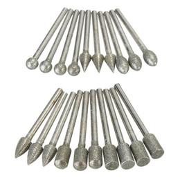 20pcs 3 mm vástago de diamantes molienda Burr Drill Bits conjuntos para Dremel herramientas rotativas desde fabricantes