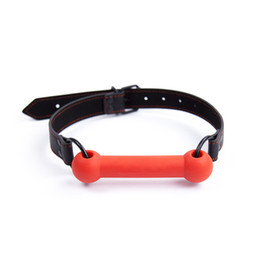 Wholesale Oral Fixation Sex - Adjustable Dog Bone Gag Adult Oral Fixation Mouth Gag With Dog Bone Gags Fetish CBT Sex Game Toys 2016 new style