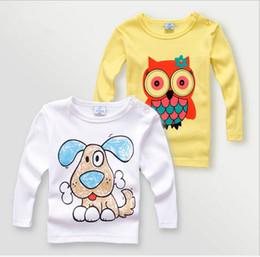 Wholesale Giraffe T Shirt Girls - kids tops girls tees child clothing children t-shirts for baby boys long sleeve t shirts owl dog zebra bear giraffe sophie