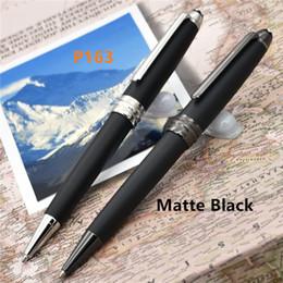 Wholesale New Note - New Luxury MT 163 pen Matte Black Classique roller ball pen   ballpoint pens option blance pens for writing gift