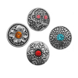 Wholesale Earing Mixed - Pack Of 20pcs 20mm Random Mixed Antique Silver Solor Snap Button Jewelry Charms Fit Noosa Ring Earing Bracelets Unisex Great Price E543E
