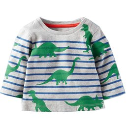 Wholesale Wholesale Sweatshirts For Kids - Kids Tops Boys Long Sleeve T-shirts Designer Clothing Animal Appliques Kids T-shirts for Boy Sweatshirt Fashion Tees for Kids