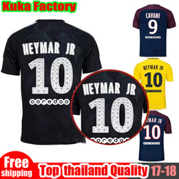 Wholesale Green Women Football Jersey - Maillot De Foot NEYMAR JR MBAPPE Home Away Third Jersey 17 18 CAVANI VERRATTI DANI ALVES Shirts Men Women Soccer Jerseys Football Kit