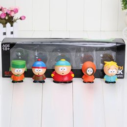 Wholesale Toys For Childrens - 5pcs set Dropship South Park Series Mini Action Figures Toy for childrens' gift approx 2.3inch with box