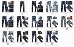Wholesale Mens Black Classic Straight Jeans - High Fashion DSQ2 Classic Jeans Men Runway Biker Skinny Slim Denim Trousers Homme D2 Cowboy Famous Brand Zipper Designer DSQ Mens Pants