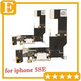 Wholesale dock connector port iphone parts - Original for iPhone SE 5SE USB Dock Connector Charger Charging Port Headphone Audio Jack Ribbon microphone Flex Cable Replacement Part 10PCS