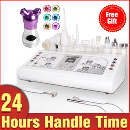 Wholesale Ultrasonic Galvanic - Multifunctional 8in1 Facial Care Black Head Acne Removal High Frequency Galvanic Ultrasonic Vacuum Spray Facial Brush + Free Gift
