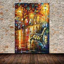 Wholesale Nude Oil Painting Large - Large Handpainted Abstract Modern Wall Oil Painting Tree Road Palette Knife Picture On Canvas Home Decoration For Living Room