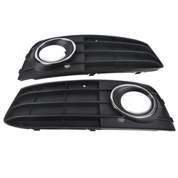 Wholesale Front Grill Cover - Mayitr 1 Pair Car Fog Light Cover Grill Front Bumper Grille For Audi A4 A4L B8 2009 2010 2011 Left & Right Side