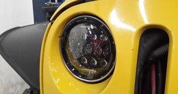 "Wholesale Ct Lights - free shipping 105W Jeep LED headlight 7"" headlamp Wrangler Rubicon CT TJ JK FJ Miata Harley motorcle driving spot flood light H4 H13 adptor"