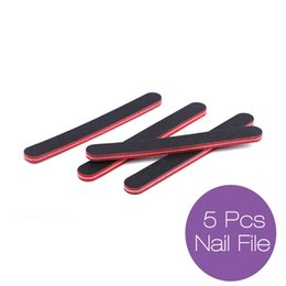 Wholesale red nail file - Wholesale- New Nail File Nail Art Beauty Tools 5PC Black Red Sanding Buffer Stick Manicure UV Gel Polisher Nail Files Polish DIY 2017