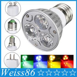 Prix le plus bas GU10 E27 MR16 3W LED Spotlight à économie d'énergie Down Light Accueil Ampoule 85-265V DC12V Rouge / Jaune / Bleu / Vert ? partir de fabricateur