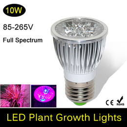 Wholesale Grow Light 24v - 2016 Direct Selling Full Spectrum Led Grow Light - Married Diamond Lens Pay Smallest 10w E27 Lamp for Flowering,hydroponics System,grow Box