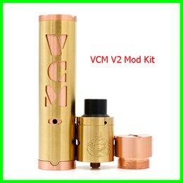 Wholesale Mini Vcm - VCM V2 Mod Kit Clone With Mini Fat Buddha RDA Kit fit 18650 Battery Box Mods Vaperz cloud VCM2 Kit 3colors DHL