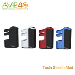 Wholesale Lipo Wholesale - Newest Tesla Stealth 100w Teslacigs Stealth Mod with 2200mAh internal LiPo battery 100% Original Zinc Alloy