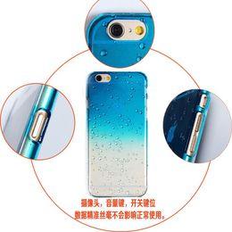 Wholesale Iphone Rain Case - Ultra-thin 3D rain drop water raindrop hard semi-transparent colorful phone case for iphone 5 5S SE 6 6S Plus 7 7plus