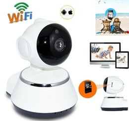 Wholesale Night Security Camera Wireless - V380 HD 720P IP Camera WiFi Wireless Smart Security Camera Micro SD Network Rotatable Defender Home Telecam HD CCTV IOS PC