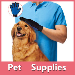 Wholesale Shirts Gloves - 2016 Newest True Touch Cleaning Brush Magic Glove Gentle Efficient Pet Dog Puppy Cat Massage Grooming Groomer