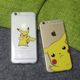 Wholesale pokemon iphone - New Poke Pikachu Ultra Thin Transparent Printing Pattren Cute Cartoon Soft TPU Clear Case Cover For iphone 6 plus 6S 5S