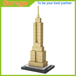 Wholesale Empire Toys - Loz World Famous Architecture USA Empire State Building Mini 3D Model Building Blocks DIY Assembly Bricks Toys for Children