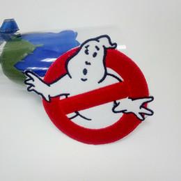 Appliques en tissu en Ligne-Ghostbusters Patch Brodé Fer sur Ghost Buster Badge Film tissu applique décoration Stickers Appliques Badge Patch