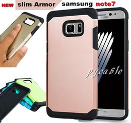 Wholesale Slim Armor Frame - Samsung Note7 Hybrid Slim Armor Case Bumper Frame Soft TPU Back Skin Cover for iphone5s 6 Samsung galaxy Note7 s7 s6 edge plus