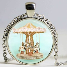 Wholesale Circus Wholesale - Merry Go Round Necklace, Vintage Carousel Horse, Circus, Carnival Art