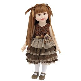 Wholesale 18 Baby Doll Clothes - New design 18 inch American Girl Doll With Beautiful Clothes And Shoes Reborn Full Vinyl Silicone Girl Doll Realistic Baby Toys