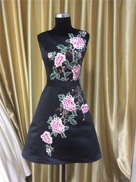 Wholesale Ball Banquet Dresses - Evening Dresses New Small Fragrant Wind Dresses The Banquet Short section Black Embroidery Bride Toast Dresses