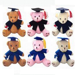 Wholesale Stuffed 12cm Teddy Bears - 12CM Plush Sitting Teddy Bear Graduation Bear Stuffed Animals -Diploma Graduation Gift For Students 20pcs