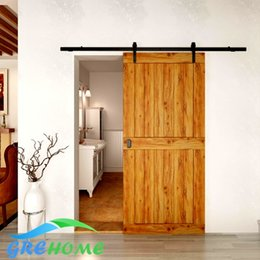 Wholesale Wood Barn - 4.9FT 6FT 6.6FT Antique Style carbon steel Country Barn Wood Sliding Door Hardware kit