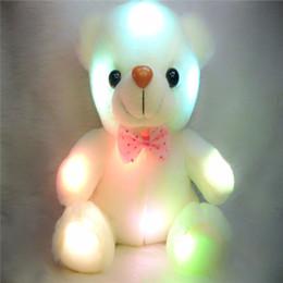 2019 lampeggiante tasto di ricerca leggera Nuovi giocattoli della peluche della bambola della luce dell'orso della luce del LED di Colorful 20 - 22cm regalo dell'orso per il giocattolo di peluche farcito del regalo di Natale dei bambini
