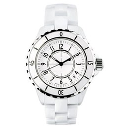 Wholesale Blue Ceramic Watches - Hot Sale Luxury Brand Lady White Black Ceramic Watches High Quality Quartz Wristwatches For Women Fashion Exquisite Women Watches