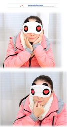 Wholesale Sleep Mask Cartoon Eyes - New Popular Cotton Panda Goggles Sleep Mask Shading Moisture Remove Dark Circles Cartoon Eye goggles Improve Sleep Quality Moist Eyes DHL