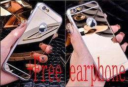 Wholesale Electroplated Chrome Iphone Case - Mirror case Electroplating Chrome Ultrathin Soft TPU Phone Case Cover For Samsung Galaxy S6 S7 iphone 5 6 6plus