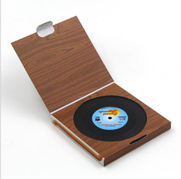 Wholesale Coffee Box Set - Silicone Cup Mat 6 Pcs set Home Table Creative Decor Coffee Drink Placemat Spinning Retro Vinyl CD Record Drinks Coasters with retail box