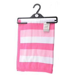 Wholesale kids boys blanket - Baby Kids Blanket Swaddles New Style Annual Baby Boys & Girls Print & Striped Cotton Knit Blanket Nursery Bedding