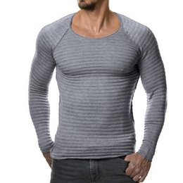 Wholesale Black Scoop Neck Sweater - Top fashion 2017 autumn winter men sweater pullover knitted sweater casual solid color long shirt brand clothing