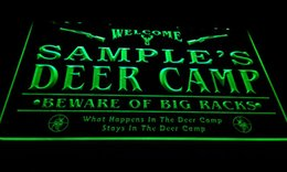 Wholesale Deer Neon Sign - LS583-g Name Personalized Custom Deer Camp Big Racks Bar Beer Neon Sign