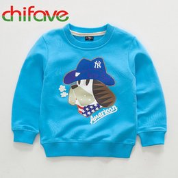 Wholesale Girls Fashion Sweaters Cheap - Wholesale- Children's Autumn Clothing Kids Boys and Girls Sweater Korean Fashion Cartoon Dog Children Cotton Clothes Cheap Price