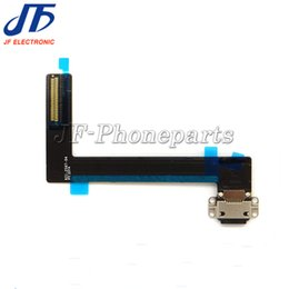 Wholesale Ipad Docking Black - 20pcs lot For Apple iPad 6 air 2 air2 Dock Connector Charging Charger Port Flex Cable Ribbon black white
