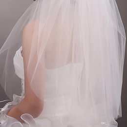 Wholesale Cream Layer - 2018 New Hot sale high quality trimming bridal veil cream-colored comb two veil of the bride wedding veil accessories