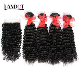 Cheveux brésiliens vierges d'armure de cheveux avec la fermeture de lacet 5pcs beaucoup malaisien péruvien indien cambodgien mongol crépus bouclés cheveux fermetures ? partir de fabricateur