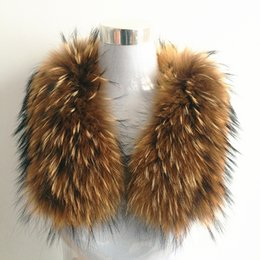 Wholesale Genuine Fur Cape - Wholesale-100% Natural Genuine Raccoon Fur Collar Shawl Women Shrug Winter Fashion Integral SkinScarf Warm Real Fur Shawl Wrap Stole Cape