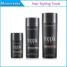 Wholesale Toppik Wholesale Fibers - NEW SEALED Toppik Hair Building Fibers Hair Loss Products Natural Keratin Thinning Hair Solutions Full Hair Instantly Styling Powder