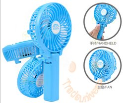 Wholesale Rechargeable Fan Portable Handheld Mini Fan Battery Operated Cooling Fan Electric Personal Fan Foldable With Retail Box