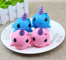 Wholesale Toy Whale Wholesale - Squishy Slow Rising Unicorn Whale Phone Charms Squeeze Jumbo Bread Stress Relieve Kawaii Cute Toys Kids Gifts